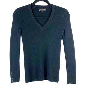 BANANA REPUBLIC Black Merino Wool Sweater